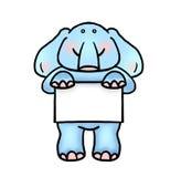 Слон держа иллюстрацию плаката Стоковые Фото