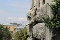 Слон искусства от beton Стоковая Фотография RF
