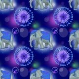 Слон и попугай Стоковое Изображение