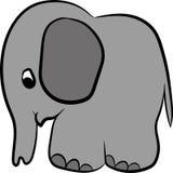 Слон покрашенный серым цветом Стоковое Изображение