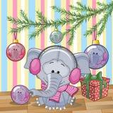 Слон под деревом Стоковая Фотография RF