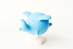 Слон сини летания стоковая фотография rf