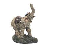 Слон статуэтки изолированный на белизне Стоковые Фото