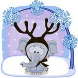 Слон с antlers иллюстрация штока
