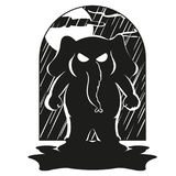 Слон Характер Пришл внезапно Большое собрание изолированных слонов Вектор, шарж Стоковое Изображение RF