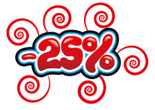 25% с потехи бирки Стоковое Изображение RF