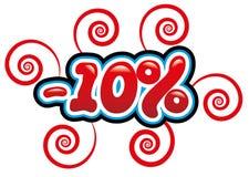 10% с потехи бирки Стоковые Фотографии RF