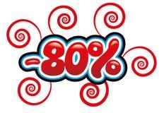 80% с потехи бирки Стоковое Фото