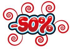50% с потехи бирки Стоковое Изображение RF