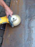 С полировать угловой машины стоковое фото rf