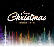 С Рождеством Христовым абстрактная красочная предпосылка дерева иллюстрация вектора