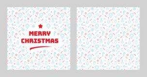 С Рождеством Христовым блестящий дизайн литерности Стоковое Изображение RF