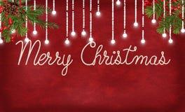 С Рождеством Христовым веревочка и света Стоковые Фотографии RF