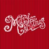 С Рождеством Христовым винтажный логотип вектора Славный праздничный подарок иллюстрация вектора