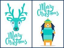 С Рождеством Христовым знамена на иллюстрации вектора Стоковая Фотография RF