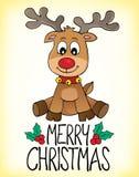 С Рождеством Христовым изображение 2 темы Стоковые Фотографии RF