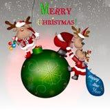 С Рождеством Христовым! Иллюстрация вектора счастливое Новый Год Стоковое Изображение RF