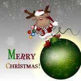 С Рождеством Христовым! Иллюстрация вектора Стоковые Фотографии RF