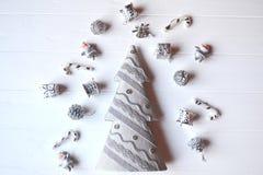 С Рождеством Христовым и с новым годом Предпосылка минимализма Стоковая Фотография