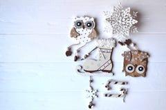 С Рождеством Христовым и с новым годом Предпосылка минимализма Стоковые Изображения