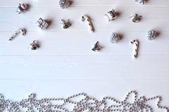 С Рождеством Христовым и с новым годом Предпосылка минимализма Стоковая Фотография RF