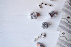 С Рождеством Христовым и с новым годом Предпосылка минимализма Стоковое фото RF