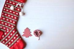 С Рождеством Христовым и с новым годом Предпосылка минимализма Стоковое Изображение RF