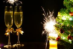 С Рождеством Христовым и с новым годом! Стоковое Изображение