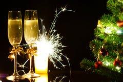 С Рождеством Христовым и с новым годом! Стоковые Изображения RF