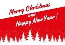 С Рождеством Христовым и с новым годом 2 стоковое изображение