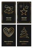 С Рождеством Христовым и поздравительная открытка Новый Год Стоковая Фотография RF
