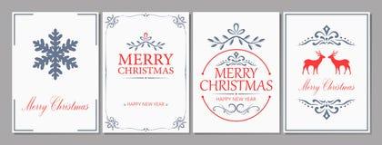 С Рождеством Христовым и поздравительная открытка Новый Год Стоковые Изображения RF