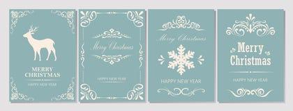 С Рождеством Христовым и поздравительная открытка Новый Год Стоковые Фото