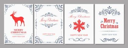 С Рождеством Христовым и поздравительная открытка Новый Год Стоковая Фотография