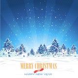 С Рождеством Христовым и предпосылка с новым годом Стоковое Фото