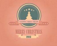 С Рождеством Христовым и пузыри с новым годом бесплатная иллюстрация