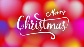 С Рождеством Христовым и счастливая каллиграфия оформления Нового Года Сезонная литерность знамя дизайна плана предпосылки иллюст Стоковое Фото