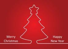 С Рождеством Христовым и счастливая карточка Нового Года также вектор иллюстрации притяжки corel Стоковое Изображение RF
