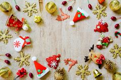 С Рождеством Христовым и счастливая концепция предпосылки Нового Года Различный c Стоковые Фото