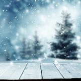 С Рождеством Христовым и счастливая предпосылка приветствию Нового Года с tabl стоковые фотографии rf