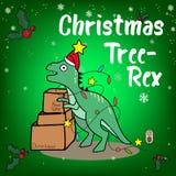 С Рождеством Христовым и счастливые предпосылка Нового Года, rex дерева и подарок иллюстрация штока