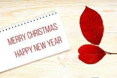 С Рождеством Христовым и счастливые приветствия Нового Года стоковая фотография