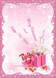 С Рождеством Христовым и счастливый Новый Год 2019 карточка 2007 приветствуя счастливое Новый Год стоковое фото