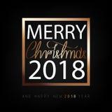 С Рождеством Христовым и счастливый Новый Год 2018 Предпосылка рождества плоская конструированная иллюстрация вектора