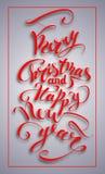 С Рождеством Христовым и счастливый текст Нового Года Стоковые Изображения RF