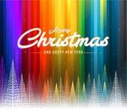 С Рождеством Христовым красочная абстрактная линия предпосылка радуги иллюстрация штока