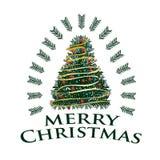 С Рождеством Христовым с красочным деревом стоковая фотография