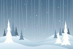С Рождеством Христовым ландшафт Стоковые Изображения