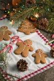 С Рождеством Христовым натюрморт рождества с традиционными печеньями пряника на таблице Семейное торжество Счастливое новое… пиво Стоковое Изображение RF
