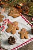 С Рождеством Христовым натюрморт рождества с традиционными печеньями пряника на таблице Семейное торжество Счастливое новое… пиво Стоковое фото RF